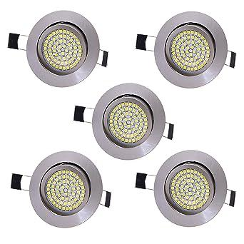5 X Lu Mi Led Einbaustrahler Flach 230v Deckenspots Ultra Flach