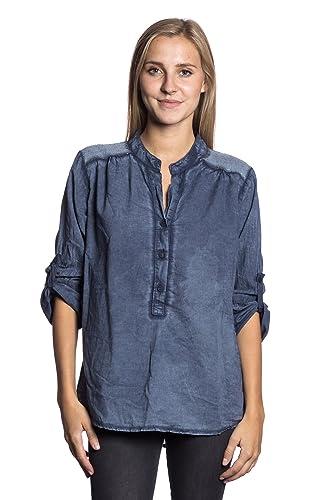 Abbino IG005 Langarm Shirts Tops para Mujeres - Hecho en Italia - Colores Variados - Entretiempo Pri...