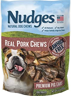 product image for Nudges Real Pork Chews Smoked Pig Ears, 16 Ounce