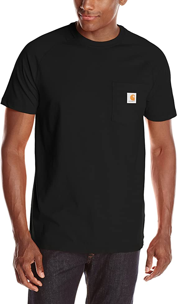 Carhartt Men S Force Cotton Delmont Short Sleeve T Shirt Regular And Big Tall Sizes Clothing Amazon Com