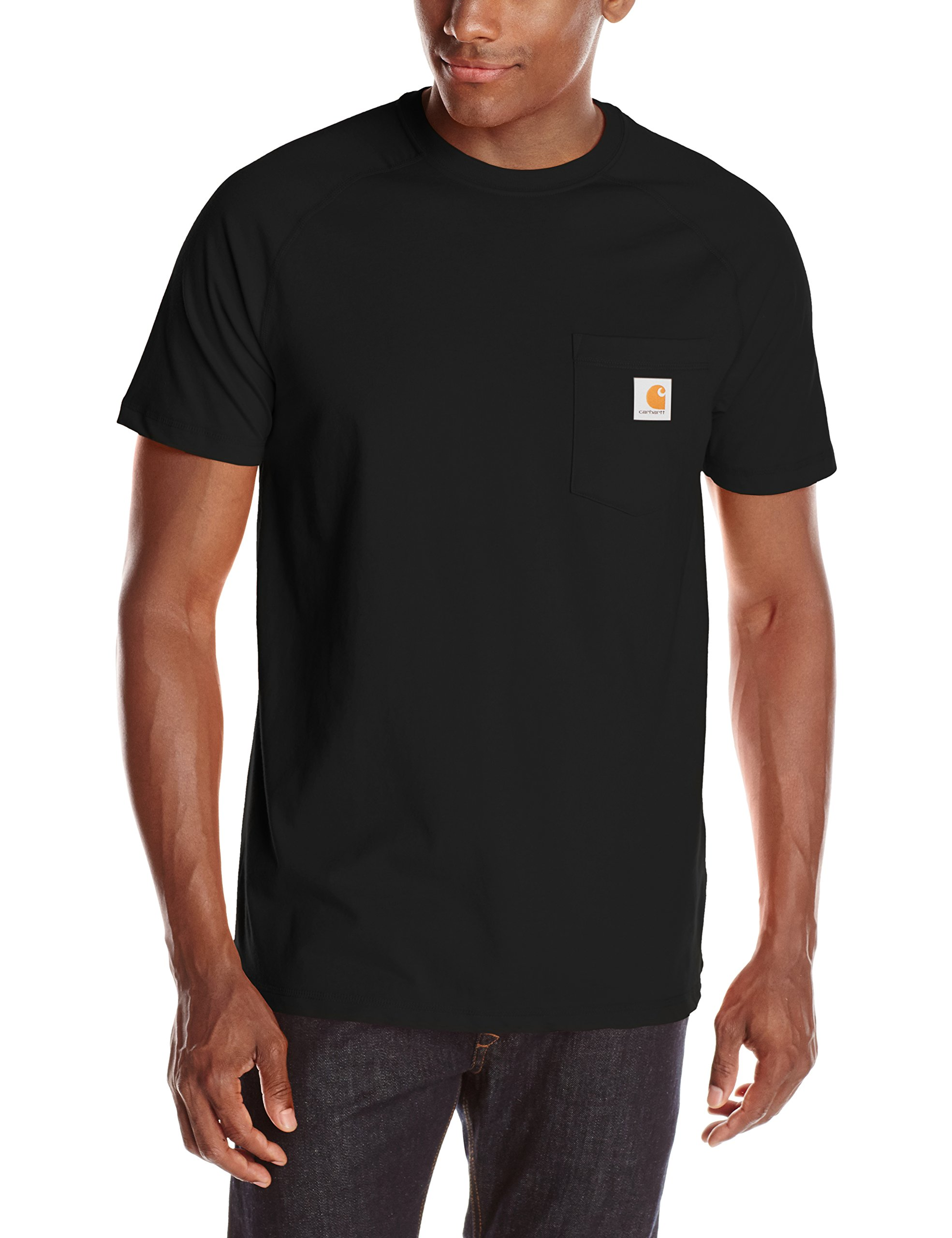 Carhartt Men's Force Cotton Delmont Short Sleeve T-Shirt (Regular and Big & Tall Sizes), Black, Large by Carhartt