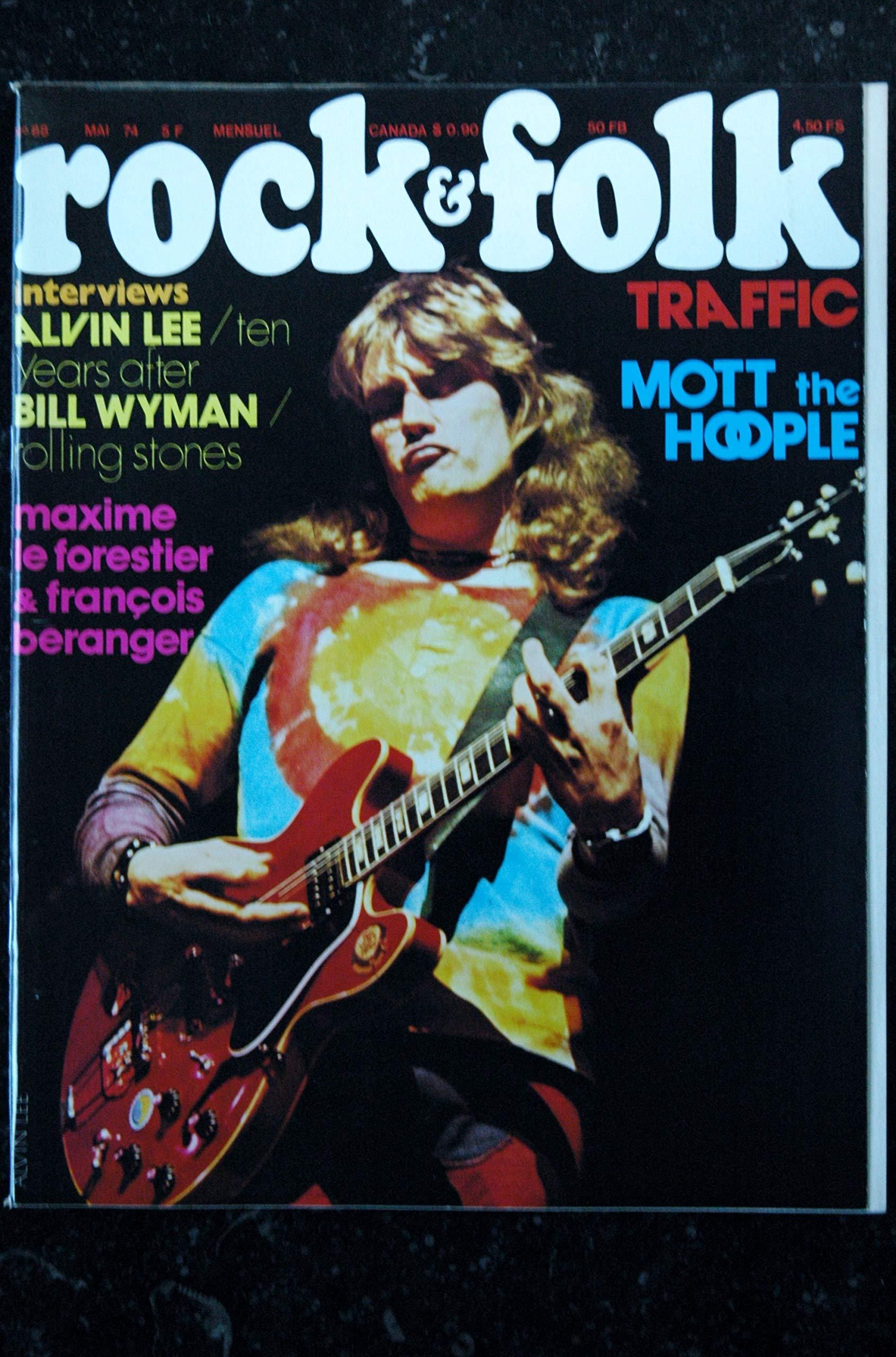 ROCK& FOLK 088 1974 MAI COVER ALVIN LEE ROLLING STONES