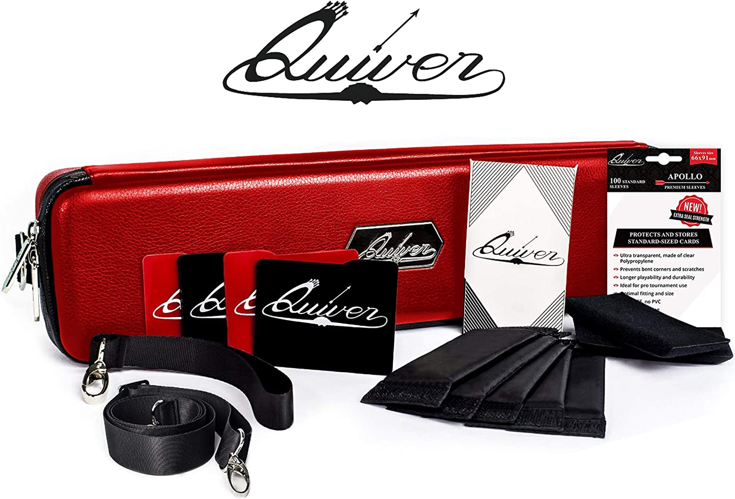 Quiver Time Red Citadel Deck Block Card Storage Box Dice and Tokens Custom Deckbox Divider Stores and Organizes Cards