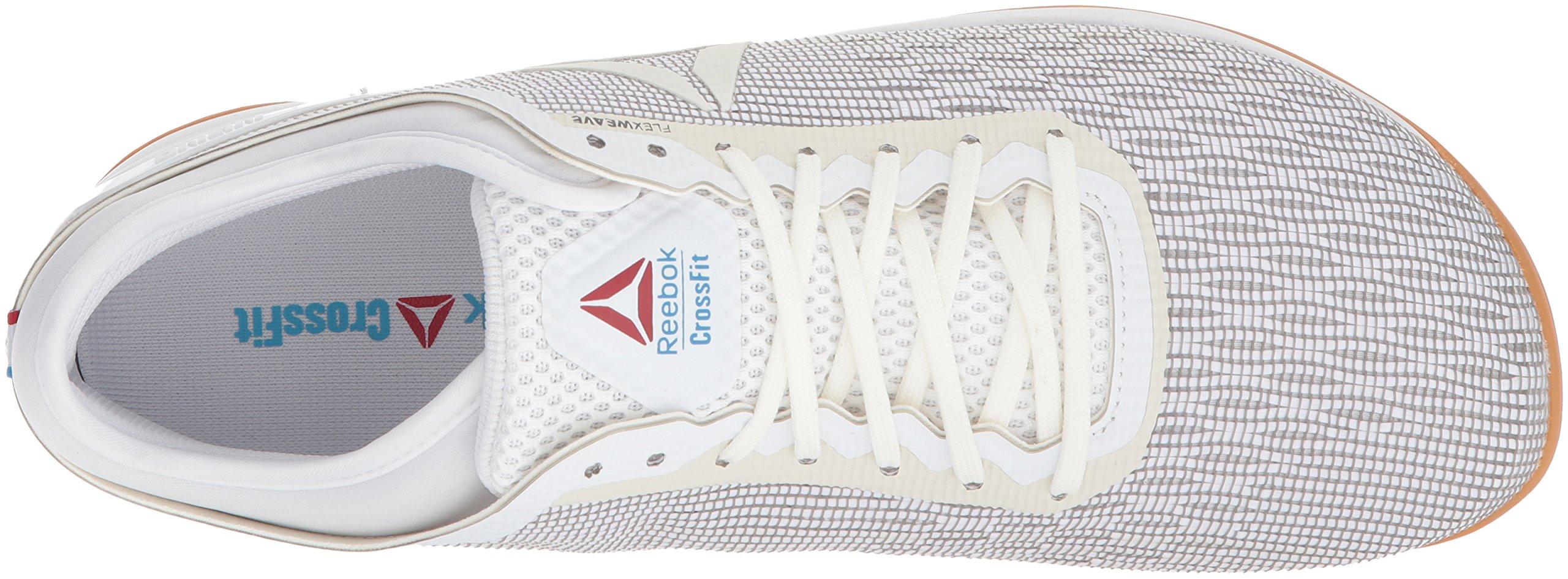 Reebok Men's CROSSFIT Nano 8.0 Flexweave Cross Trainer, White/Classic White/Excellent Red/Blue/Gum, 6.5 M US by Reebok (Image #8)