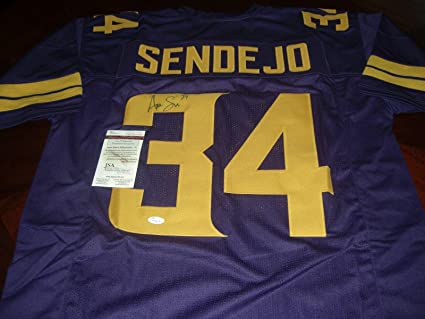 pick up e3ed4 12521 Andrew Sendejo Autographed Jersey - Purple Rush coa - JSA ...