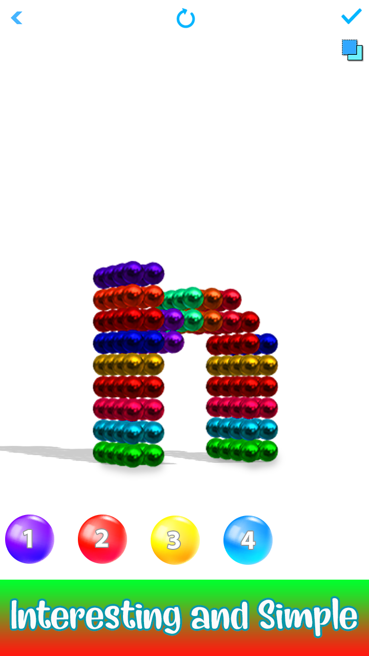 Alphabets Magnet World - Build by Magnetic Balls