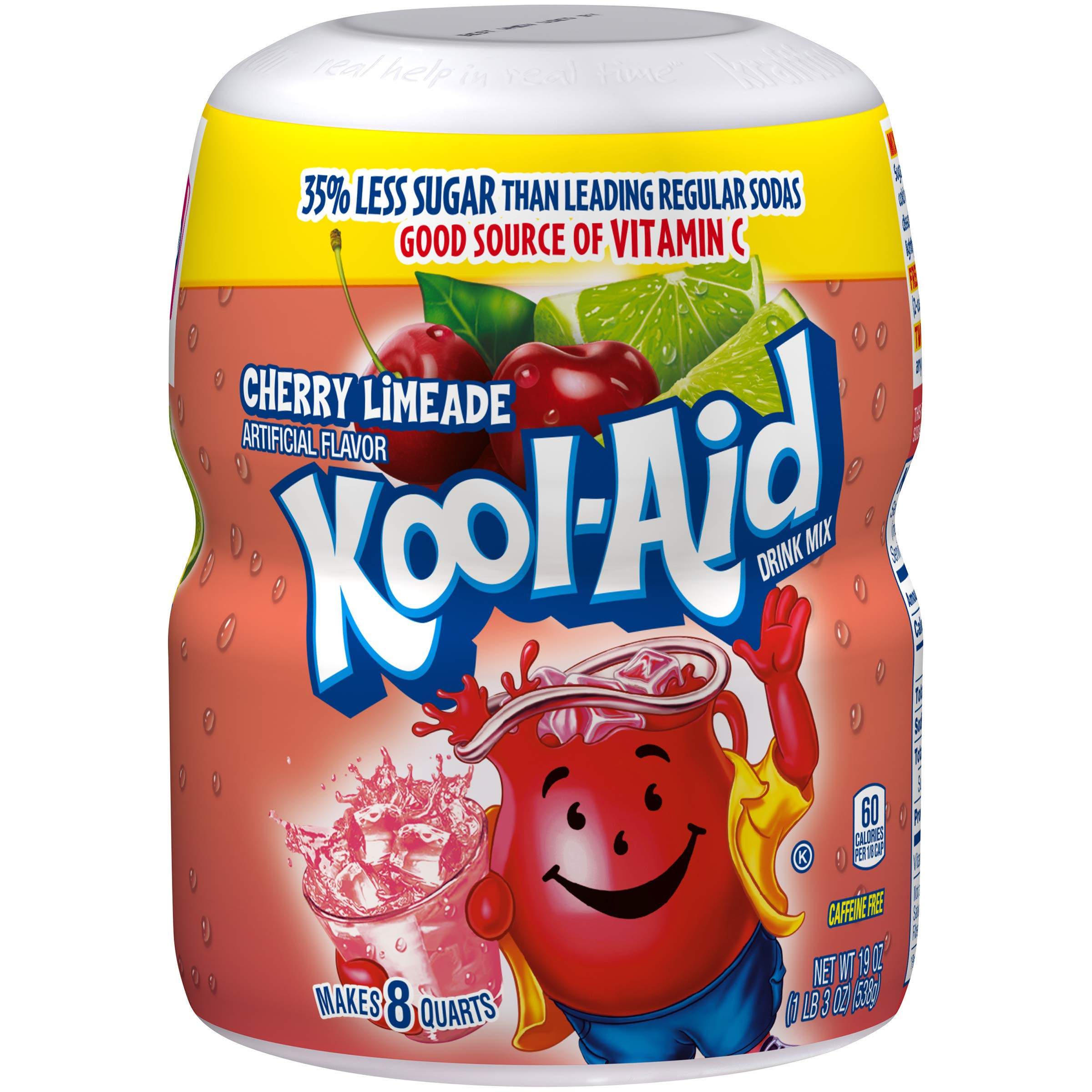 Kool Aid Cherry Limeade Drink Mix (19 oz Canister, Pack of 12) by Kool-Aid