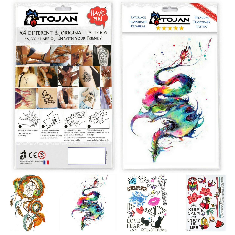 Tatuajes Temporal del Dragón, Dream Catcher y Otro Tatuajes ...
