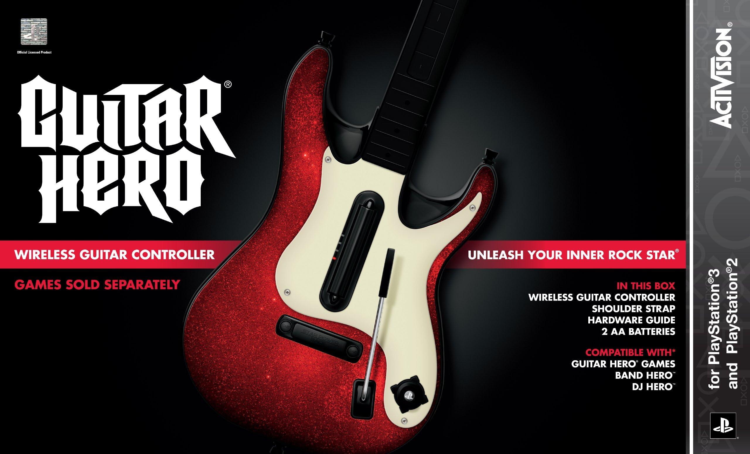 Amazon com: PS3 Guitar Hero 5 Stand-Alone Guitar: Video Games