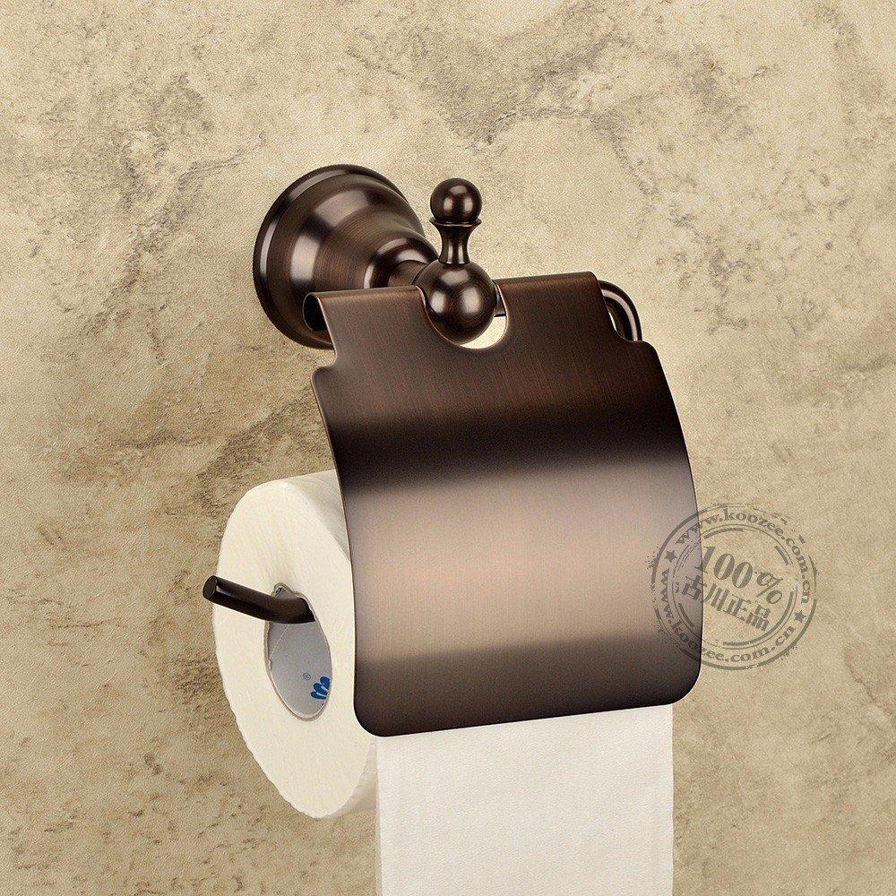 HYP-Antique European style paper towel racks European and American bathroom toilet paper rack, brown bronze