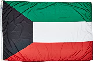 product image for Annin Flagmakers Model 194523 Kuwait Flag Nylon SolarGuard NYL-Glo, 4x6 ft, 100% Made in USA to Official United Nations Design Specifications