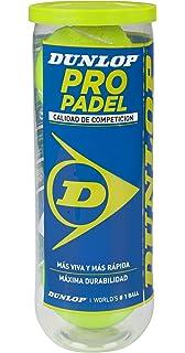 Dunlop Pro Pelota de pádel, Amarillo, pack de 3 . Total 9 ...