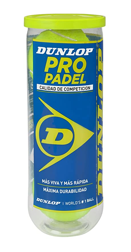 Amazon.com : Dunlop Pro Padel Paddle Tennis Balls by Dunlop ...