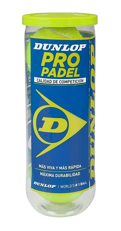 DUNLOP Pelotas de Pádel Pro Pádel Bote 3: Amazon.es: Deportes y ...