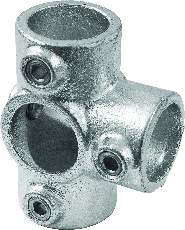 Junta hidr/áulica estilo industrial de 5 v/ías para tubo redondo di/ámetro 28-35 mm para enganche a T para la creaci/ón de estructuras de hierro