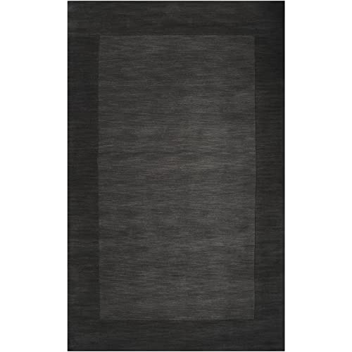Surya M-347 Mystique Area Rug, 5-Feet by 8-Feet, Charcoal
