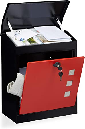 40 x 100 x 33,5 cm, triplice chiavistello, pronta da installare Gialla Waldbeck Postbutler Box Pacchi Cassetta Posta buca delle Lettere a piantana