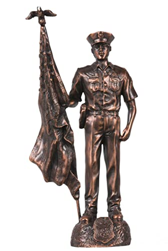 Dark Copper Policeman Figurine