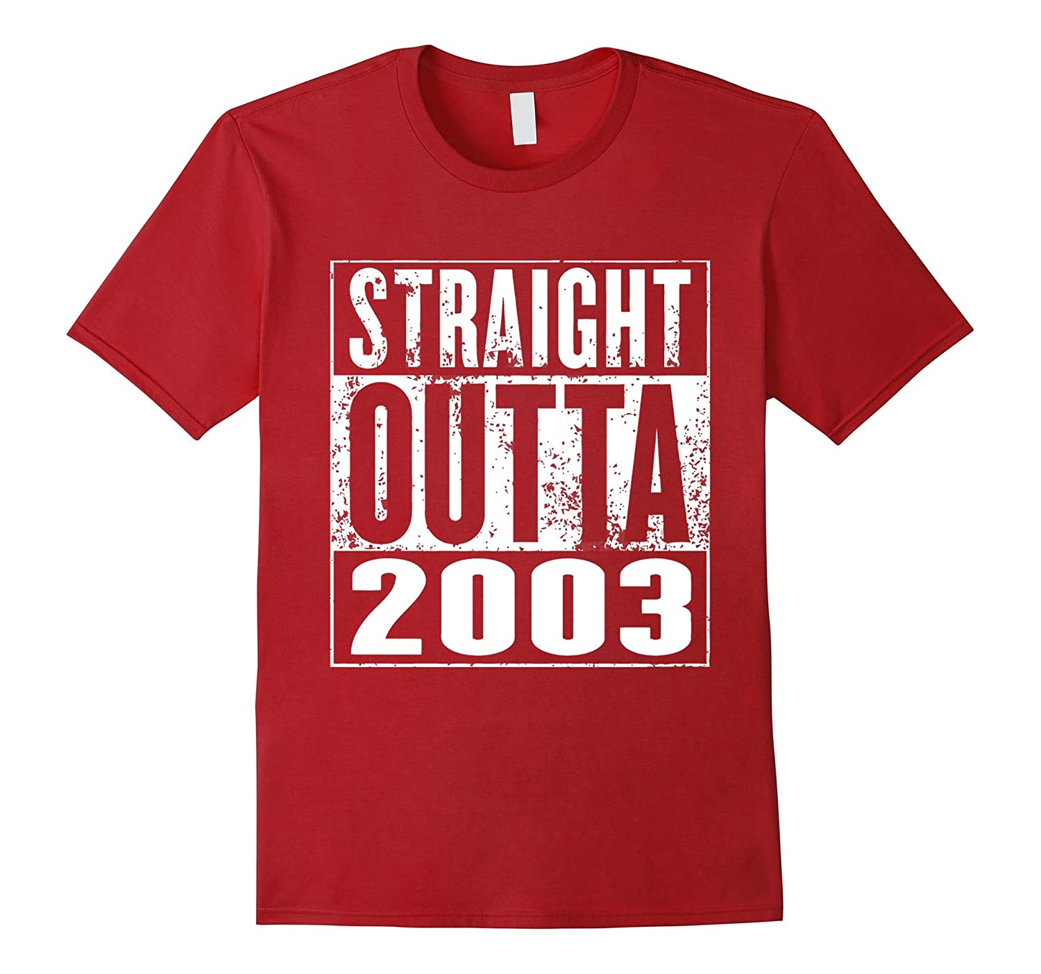 13th Birthday Straight Outta 2003 For Kids T-Shirt-CD