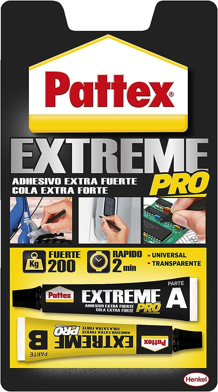 Pattex Extreme Pro, adhesivo universal transparente, fuerza y resistencia, 22ml