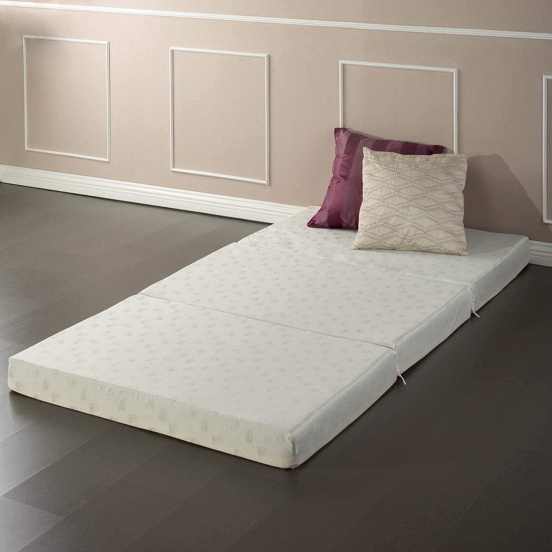 Floor mats to sleep on - Amazon Com Zinus Sleep Master Memory Foam 4 Inch Tri Fold Comfort Portable Folding Mattress Or Floor Mat Kitchen Dining
