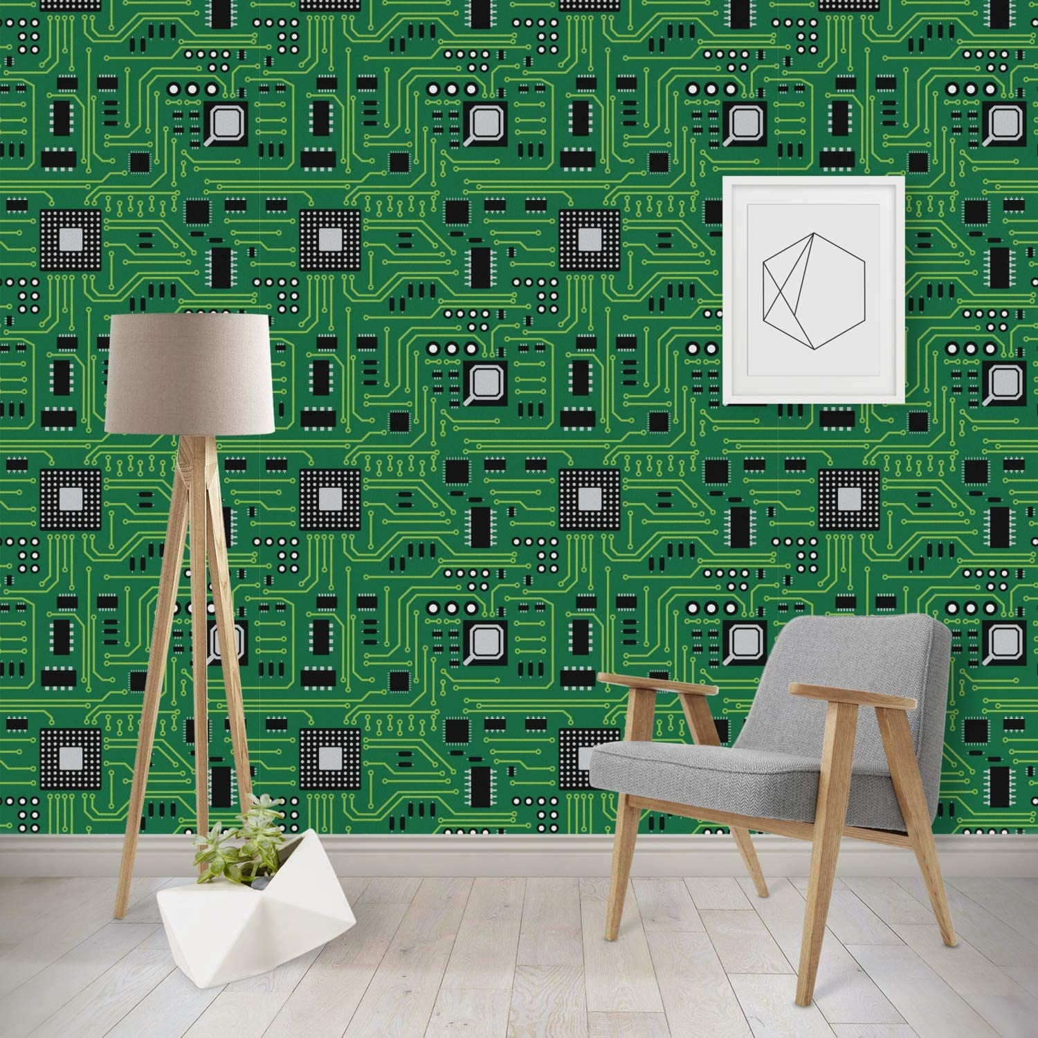 Rnk Shops Circuit Board Wallpaper Surface Covering Water