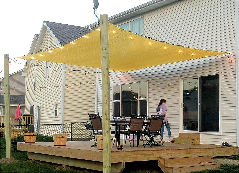 diig patio sun shade sail canopy 6 x 8 rectangle shade cloth uv block sunshade fabric outdoor cover awning shelter for pergola backyard garden