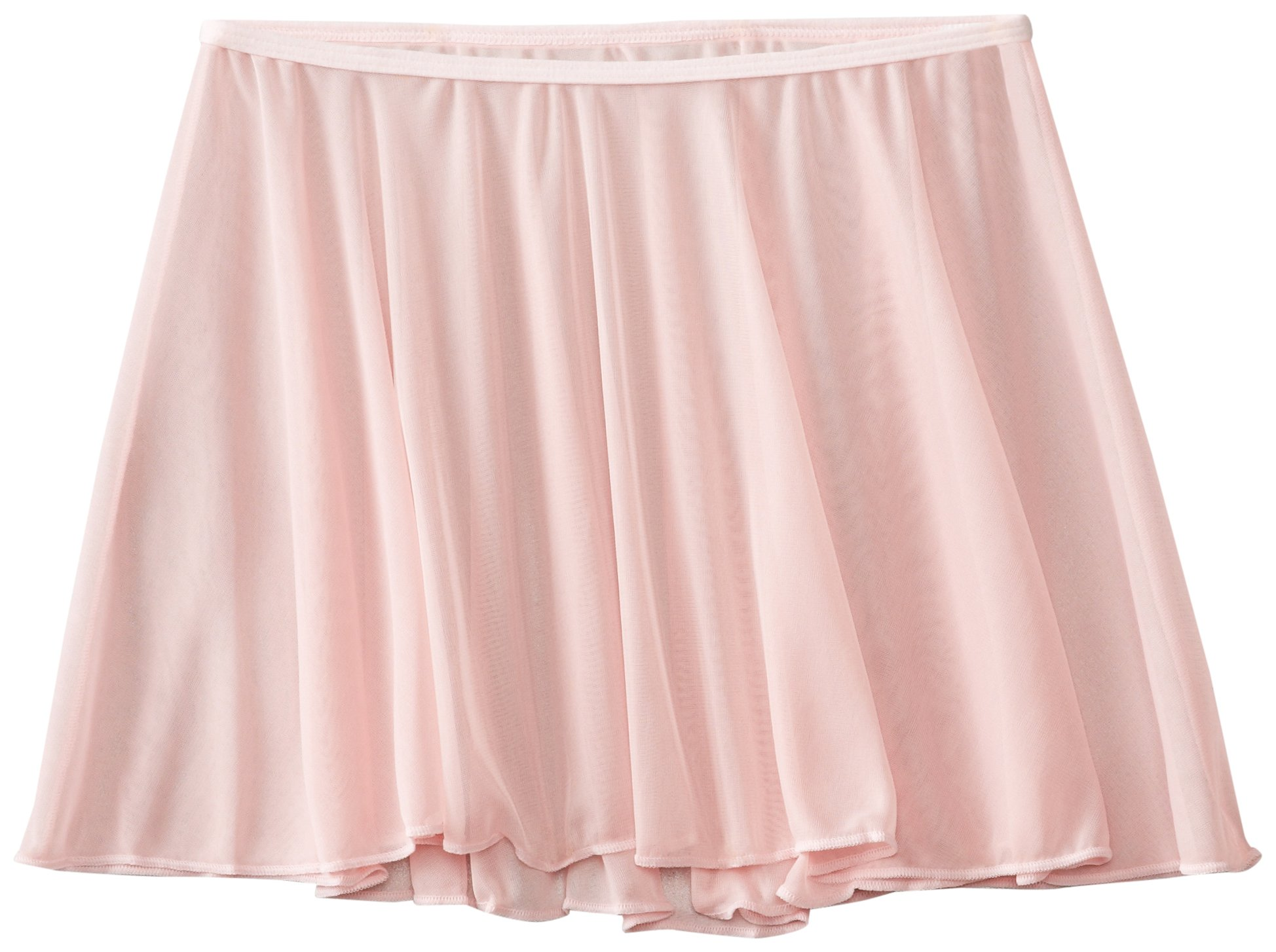 Clementine Apparel Girls' Little (2-7) Chiffon Ruffle Pull On Wavy Dance Ballet Skirt Dancwear Costumes, Light Pink, Large/X-Large by Clementine Apparel