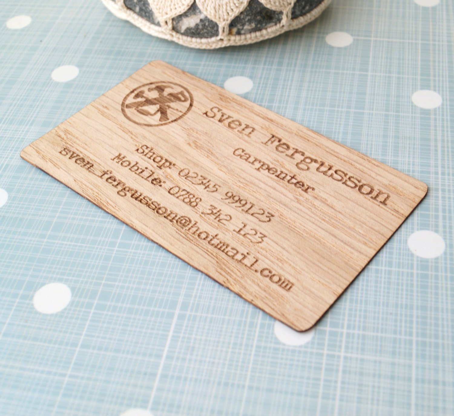Amazon Business cards set of 50 veneer business cards laser