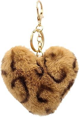 Wristlet Keychain Peach Pompom Keychain Stretchable Wristlet beaded Keychain beaded Stretchable Wristlet Fuzzy Pompom Keychain