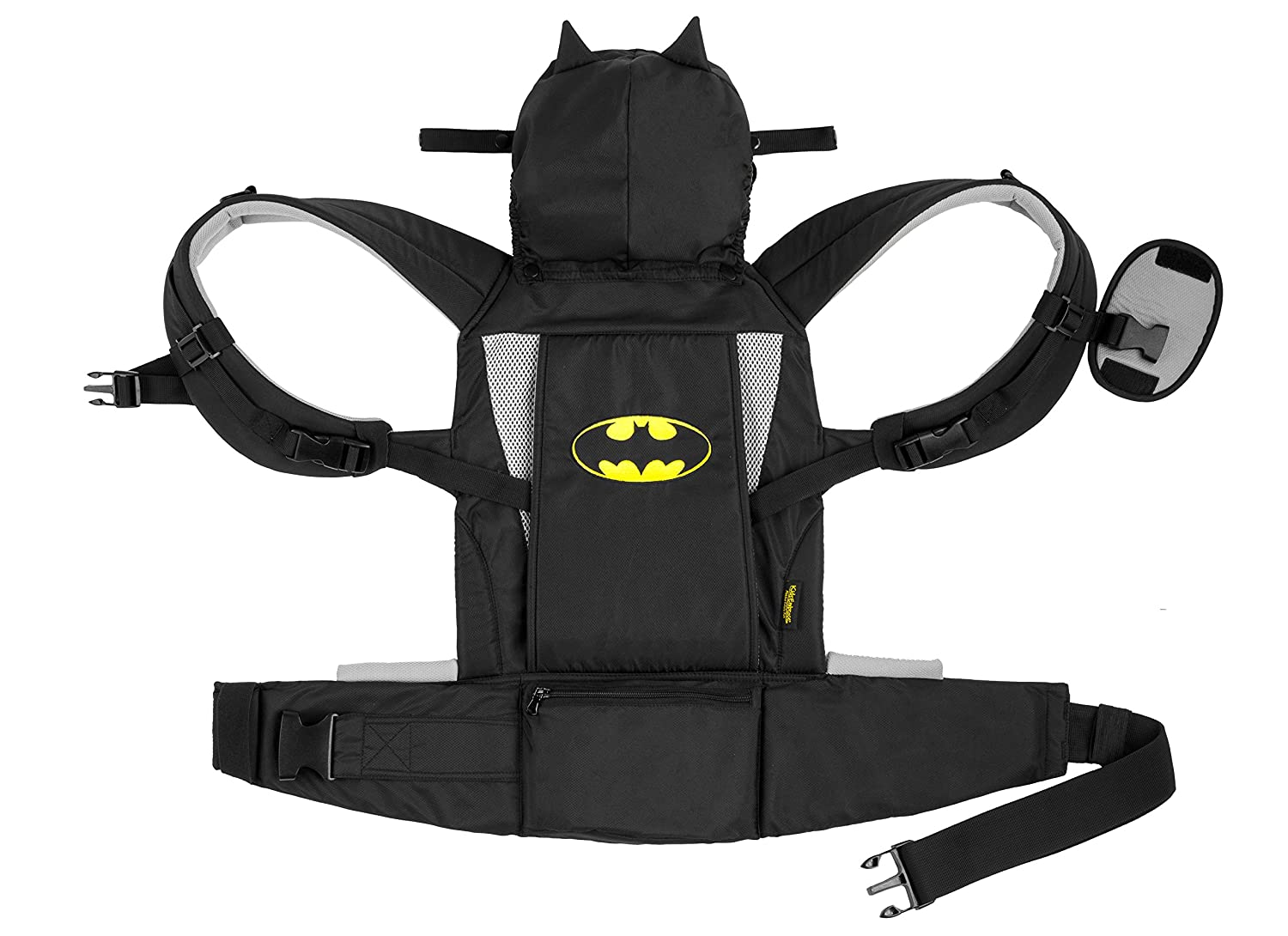 KidsEmbrace Batman Baby Carrier, DC Comics Deluxe Carrier with Hood, Black