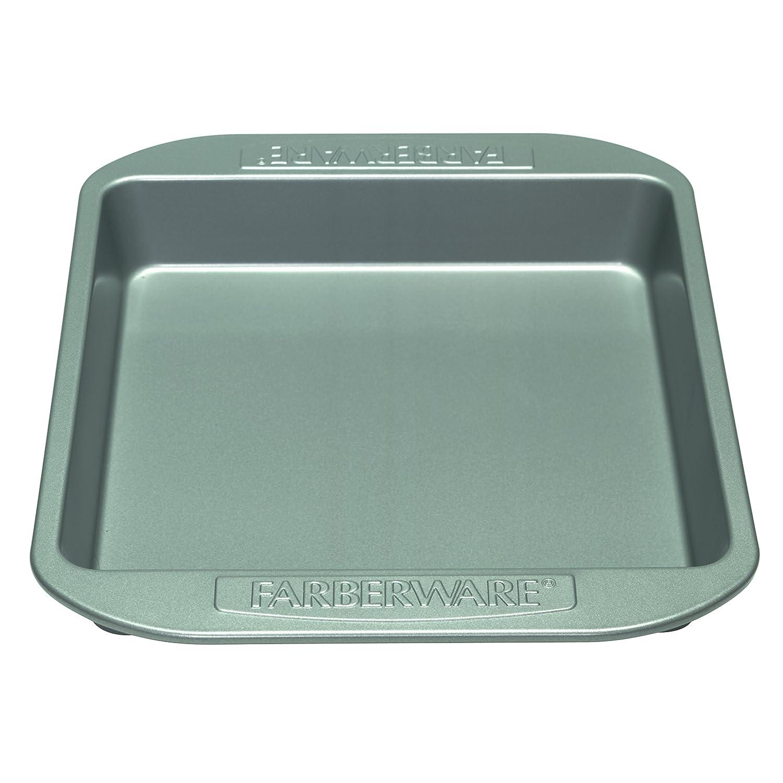 Farberware Nonstick Bakeware 9-Inch Square Cake Pan, Gray