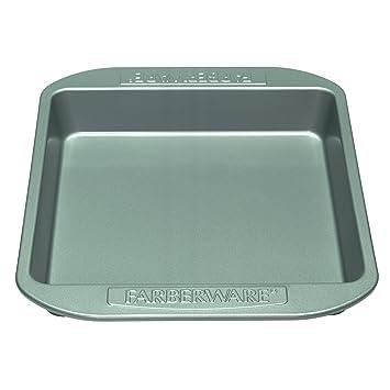 Farberware Nonstick Bakeware 9 Inch Square Cake Pan Gray