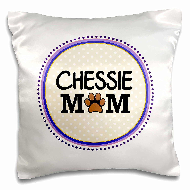 InspirationzStoreペットデザイン – Chessie Dog Mom – Chesapeake Bay Retriever Love – Doggie mama by breed – paw print mum – 犬愛好家 – 枕ケース 16 by 16