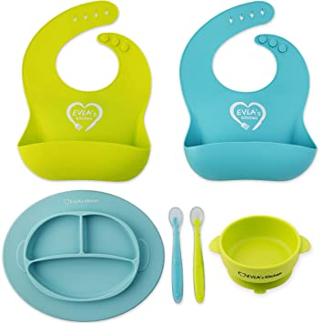 Bowls & Plates Green Eats Baby Utensil And Snack Bowls Cups, Dishes & Utensils