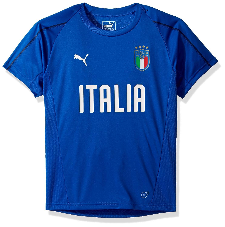 pretty nice c1633 6c1fb Amazon.com: PUMA Boys' Big FIGC Italia Training Jersey Kids ...