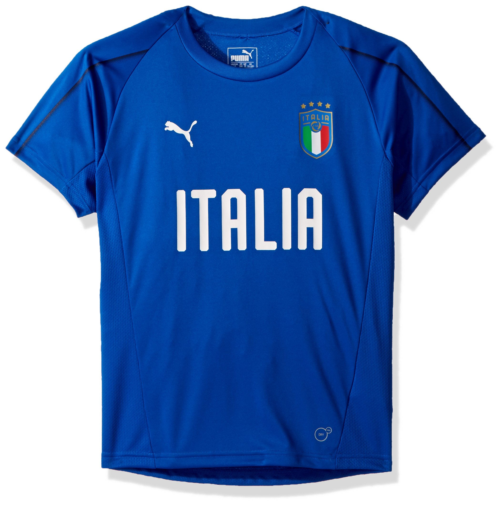 PUMA Boys' Big FIGC Italia Training Jersey Kids, Team Power Blue White, XL