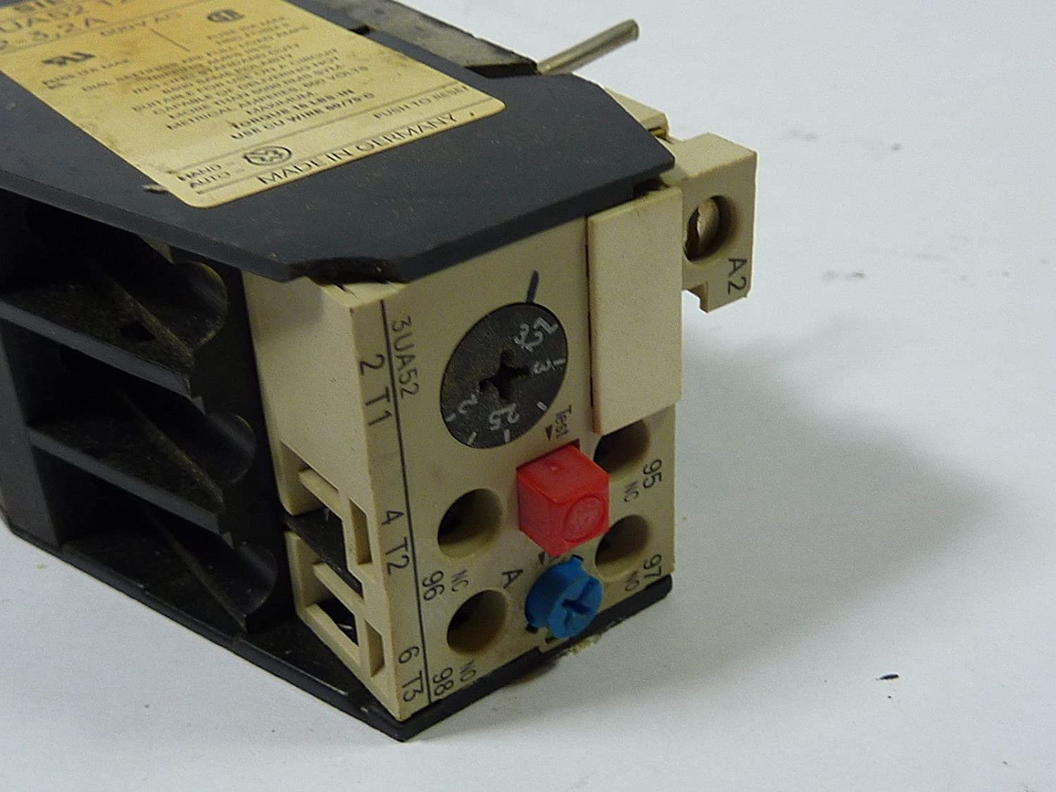 Details about  /Siemens 3UA52-12-1D Overload Relay 2-3.2amp  USED
