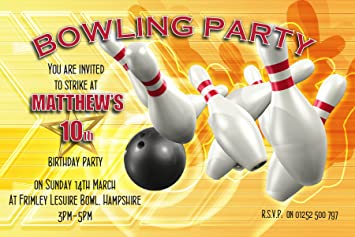 10 personalised girls boys tenpin bowling birthday party invitations 10 personalised girls boys tenpin bowling birthday party invitations n1 any age filmwisefo