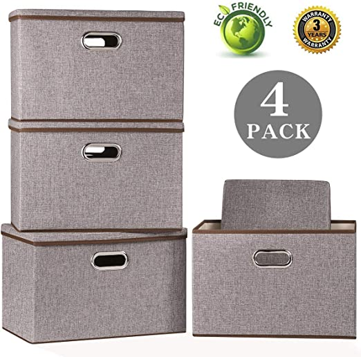 Stackable Large Collapsible Storage Zuitcase Decorative Storage Boxes with Lids