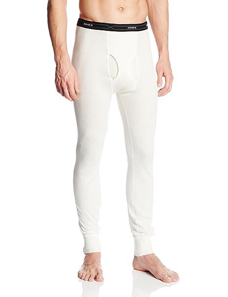 Hanes Mens Ultiamte X-Temp Thermal Pajama Pants white L/30 B01LWEE5O0