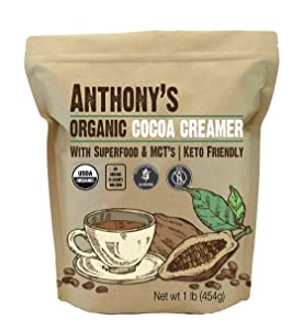 Anthony's Organic Cocoa Creamer, 1 lb, Superfood