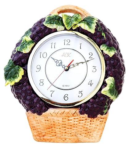 3-D Grape Ceramic Clock 14.5u0026quot;H ...  sc 1 st  Amazon.com & Amazon.com: 3-D Grape Ceramic Clock 14.5
