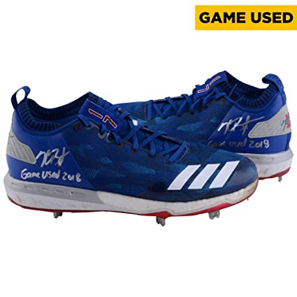 Kris Bryant Chicago Cubs Autographed Game-Used Blue and Red Cleats from the 2018  MLB 7ffcf0624
