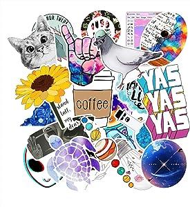 Cute VSCO Stickers for Water Bottles, 103 Pack Laptop Stickers Trendy Aesthetic Waterproof Vinyl Stickers for Teens,Kids,Girls, Water Bottle Stickers for Hydro Flask, Laptop,Phone,Skateboard