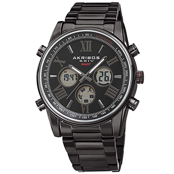 Akribos Multifunction High Tech Smartwatch - Analog-Digital ...