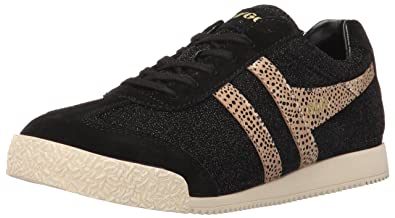 Womens Harrier Safari Fashion Sneaker, Black/Gold, 7 M US Gola
