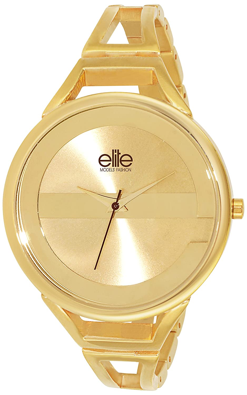 Elite Models' Fashion Damen-Armbanduhr Analog Quarz Gold E54154G-102