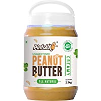 Pintola All Natural Creamy Peanut Butter, 2.5Kg (Unsweetened, Non-GMO, Gluten Free, Vegan)