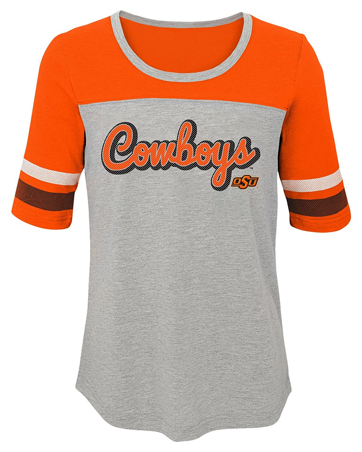 NCAA by Outerstuff NCAA Oklahoma State Cowboys Youth Girls Fan-Tastic Short Sleeve Tee Orange 16 Youth X-Large